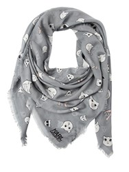 Karl Lagerfeld Choupette Printed Modal And Silk Scarf
