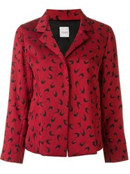 Eggs Half Moon Print Single Breasted 'Rafael' Blazer Red
