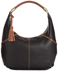 Tignanello Everyday Casual Leather Hobo Black