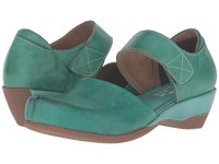 Spring Step Gloss Turquoise Women's Clog Mule Shoes Blue