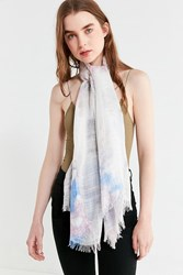 Urban Outfitters Lightweight Woven Tie Dye Scarf Purple Multi
