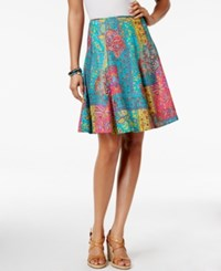 American Living Patchwork Printed A Line Skirt Only At Macy's Multi