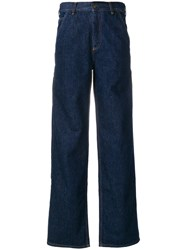 Ports 1961 Wide Leg Jeans Cotton Blue