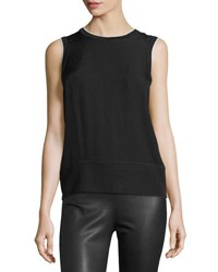 Rag And Bone Abby Piped Crepe Tank Black