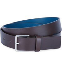 Paul Smith Accessories Contrast Back Leather Belt Chocolate