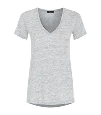 Rails Cara V Neck T Shirt Female Grey