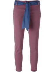 Jacob Cohen 'Brigitte' Trousers Pink And Purple