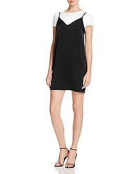 Aqua Layered Look Tee Slip Dress 100 Exclusive Black White