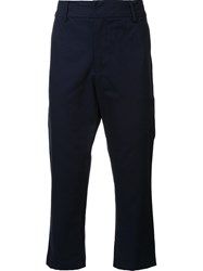 Bristol Cropped Trousers Blue
