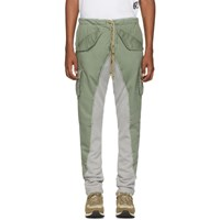 Greg Lauren Green 50 50 Army Terry Lounge Pants