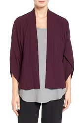 Eileen Fisher Women's Open Front Silk Jacket