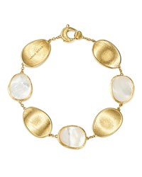 Marco Bicego 18K Yellow Gold Lunaria Mother Of Pearl Bracelet White Gold