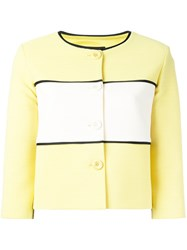 Boutique Moschino Cropped Panel Jacket Yellow Orange