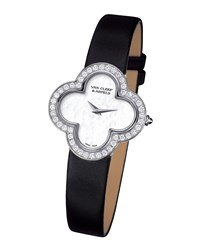Alhambra Sertie White Gold Watch Small Van Cleef And Arpels White Gold