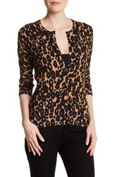 Cable And Gauge Animal Print Cardigan Multi
