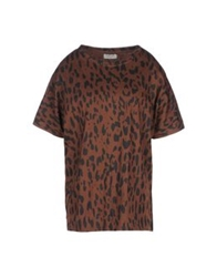 People Tree T Shirts Brown