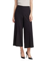 Saks Fifth Avenue High Waisted Wide Leg Trouser Black