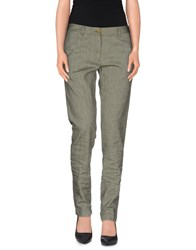 M.Grifoni Denim Trousers Casual Trousers Women Green