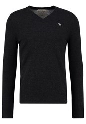 Abercrombie And Fitch Jumper Charcoal Anthracite