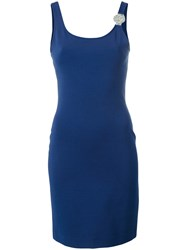 Versus Fitted Dress Blue