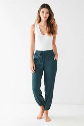 Out From Under Matilda Satin Jogger Pant Teal