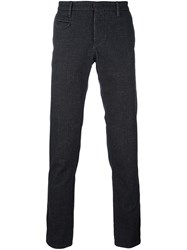 Incotex Textured Tailored Trousers Black