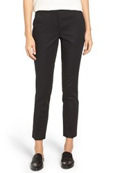 Vince Camuto Women's Stretch Cotton Ankle Pants Rich Black