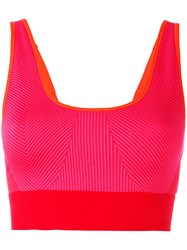 Adidas By Stella Mccartney Ribbed Classic Sports Bra Pink Purple
