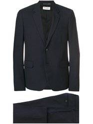 Saint Laurent Formal Two Piece Suit Blue