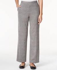 Alfred Dunner Petite Acadia Pull On Pants Grey