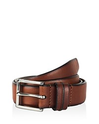 Cole Haan Feather Edge Belt With Pinch Detail On Loop British Tan