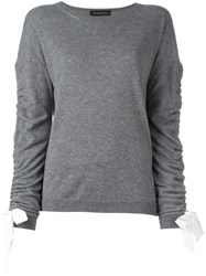 Rossella Jardini Bow Detailed Sweater Grey