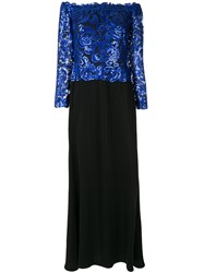 Tadashi Shoji Sequin Embellished Off The Shoulder Dress Tds.Rb Bl