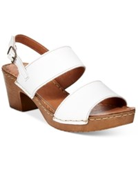 White Mountain Motor Block Heel Platform Sandals Women's Shoes