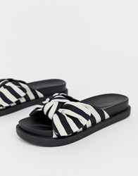 Truffle Collection Bow Slides Multi