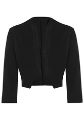 Quiz Black 3 4 Sleeve Crop Jacket