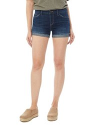 Sam Edelman Mid Rise Drew Shorts Dark Blue