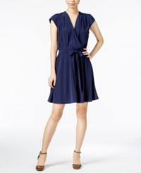 Maison Jules Belted Fit And Flare Dress Only At Macy's Blu Notte