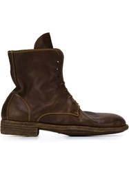 Guidi Combat Boots Brown