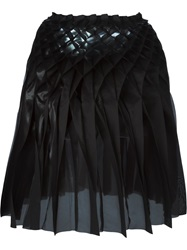 Junya Watanabe Comme Des Garcons Concertina Pleated Skirt Black