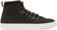 Diemme Charcoal Felted Wool Marostica Sneakers