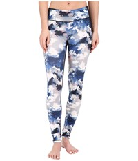 Lucy Mat And Move Leggings Cloud Print Women's Workout Blue