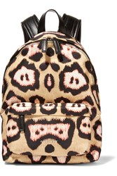 Givenchy Small Backpack In Leopard Print Satin Twill