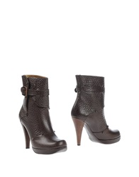 Viktor And Rolf Ankle Boots Dark Brown