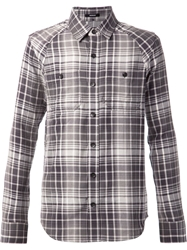 Denham Jeans Denham Plaid Shirt Grey