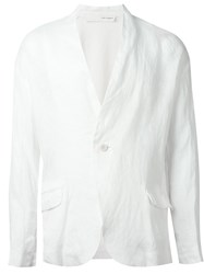 Isabel Benenato Knitted Panel Blazer White