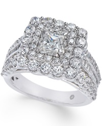 Macy's Diamond Square Cluster Ring 2 3 8 Ct. T.W. In 14K White Gold