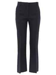 Valentino Tailored Slim Fit Virgin Wool Blend Trousers Navy