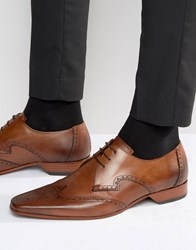 Jeffery West Escobar Leather Derby Brogues Tan