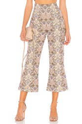 For Love And Lemons Brocade Flared Pant Ivory